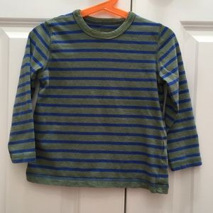 Mini Boden Long Sleeve Striped Tee Shirt Top 4-5